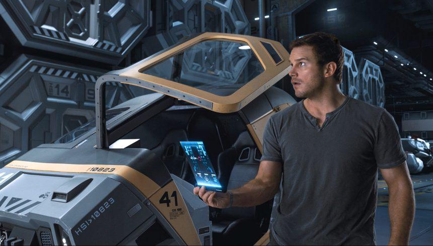 Chris Pratt stars as Jim in Columbia Pictures' PASSENGERS.